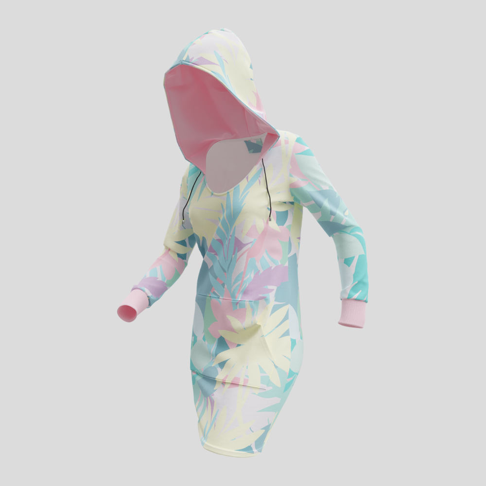 vestito con cappuccio personalizzato