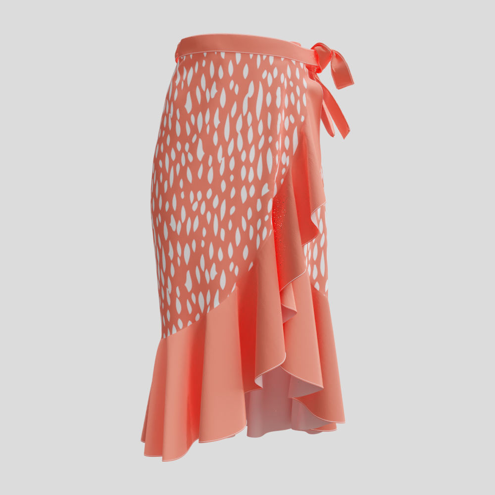wrap skirt long