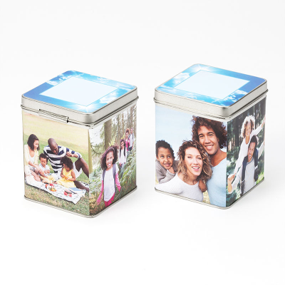 personalized tea caddy tin