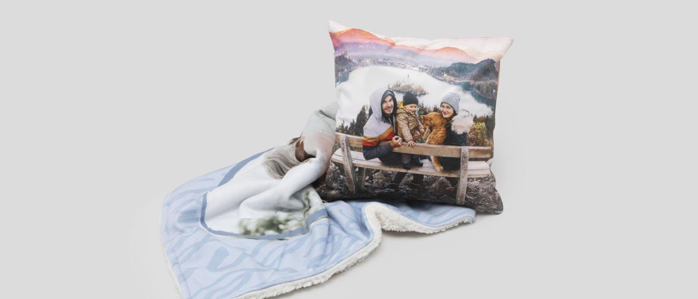 Personalisierte Bettwäsche Kissen Und Decken Mit Fotos