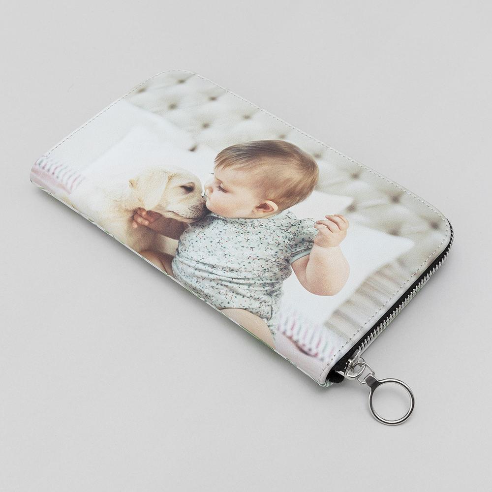 personalised zip purse