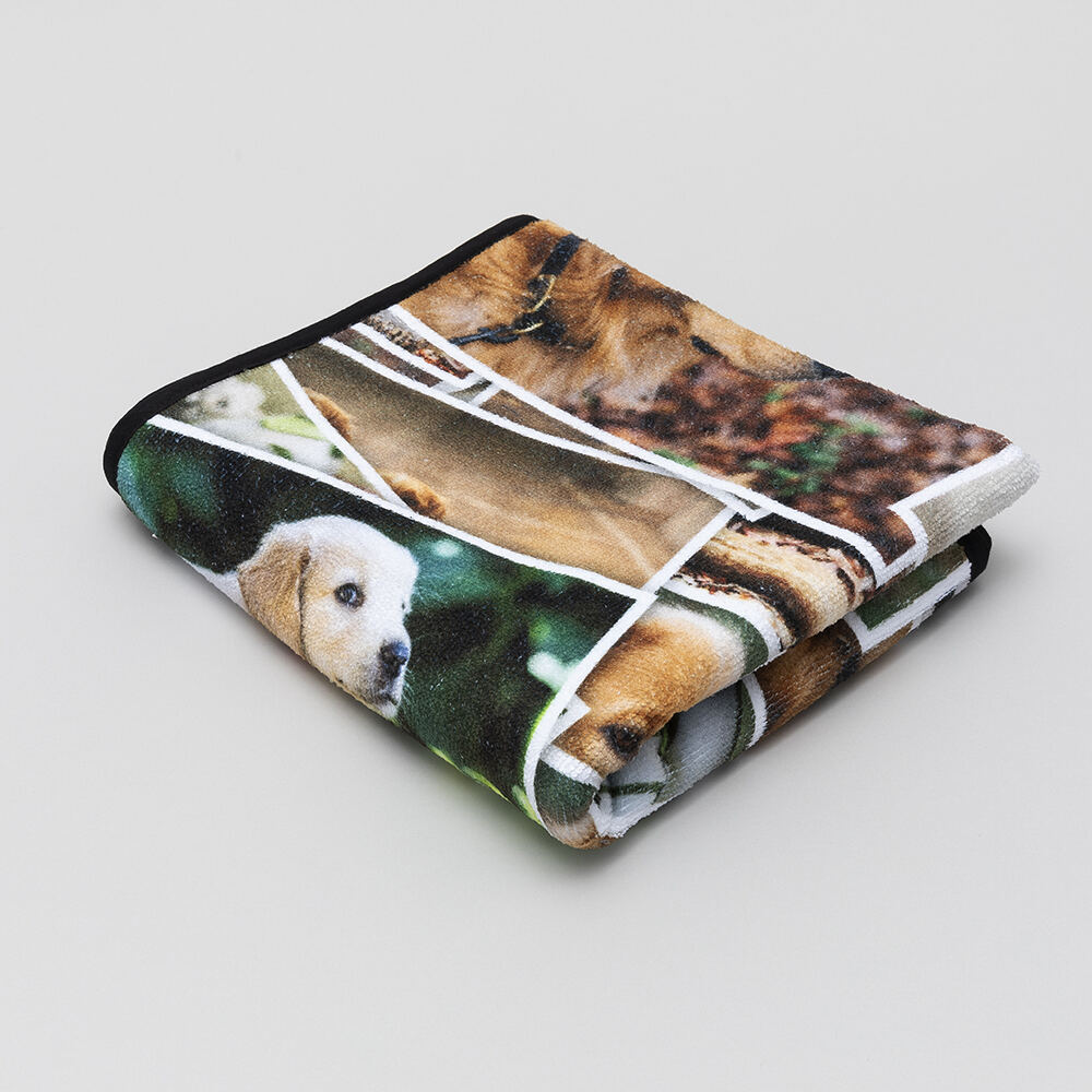 photo pet towel