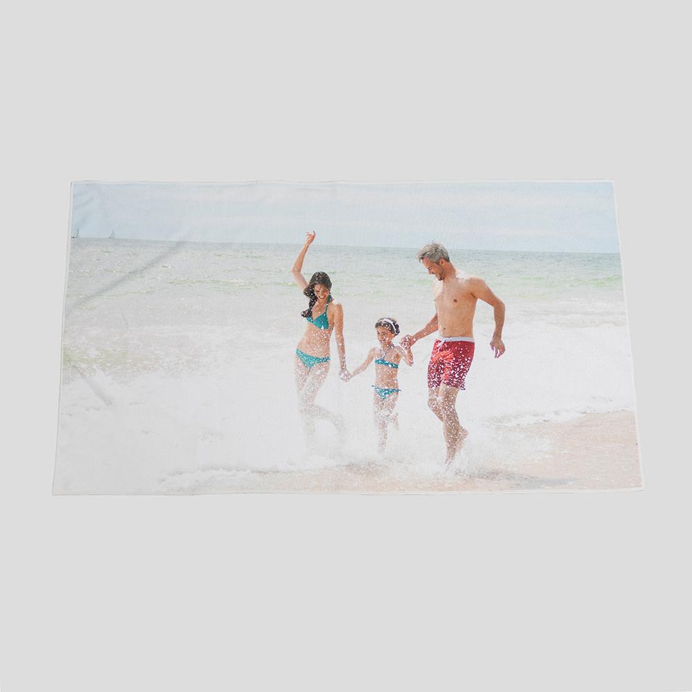 foto familia toalla playa personalizada