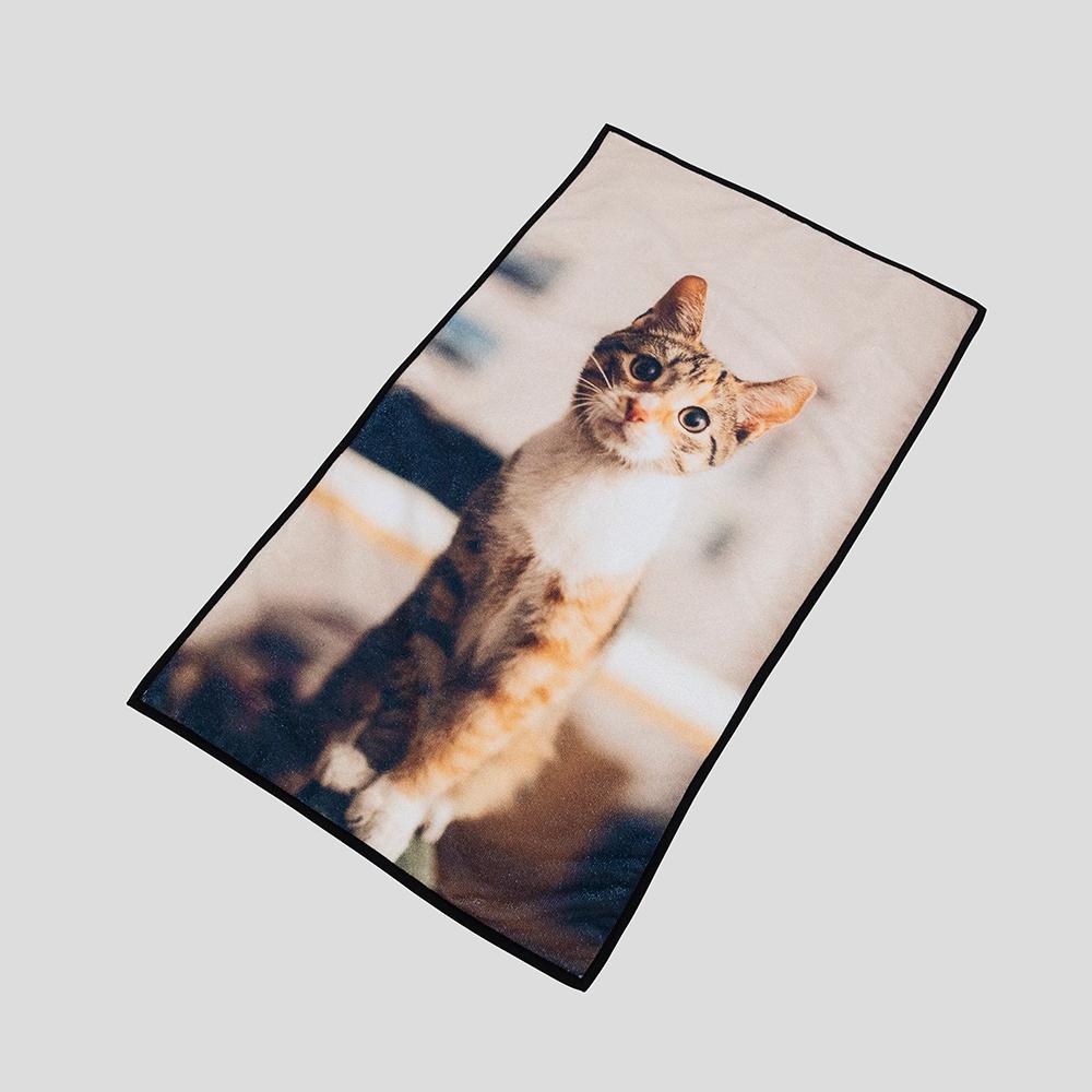 デザイン印刷 ペット用 マイクロファイバータオル