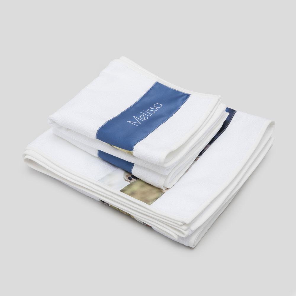 personalised strip towel set