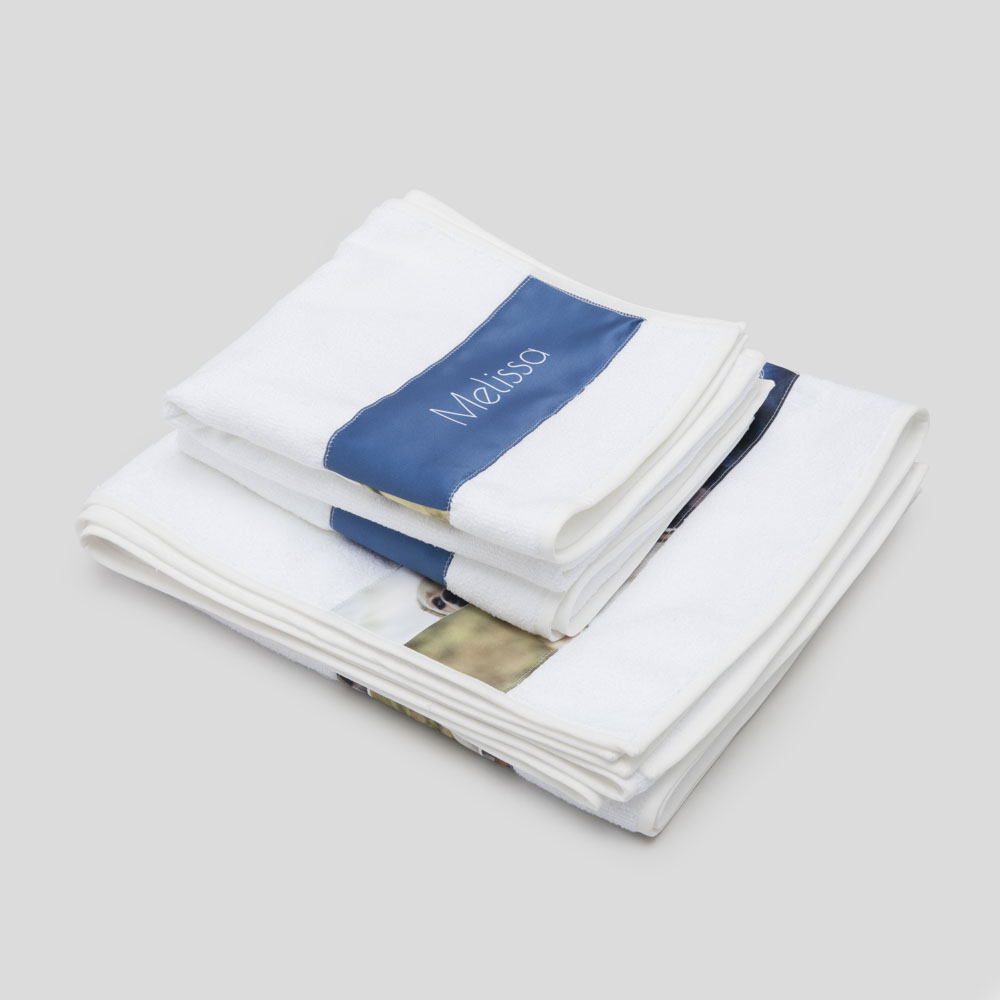 personalised strip towels set