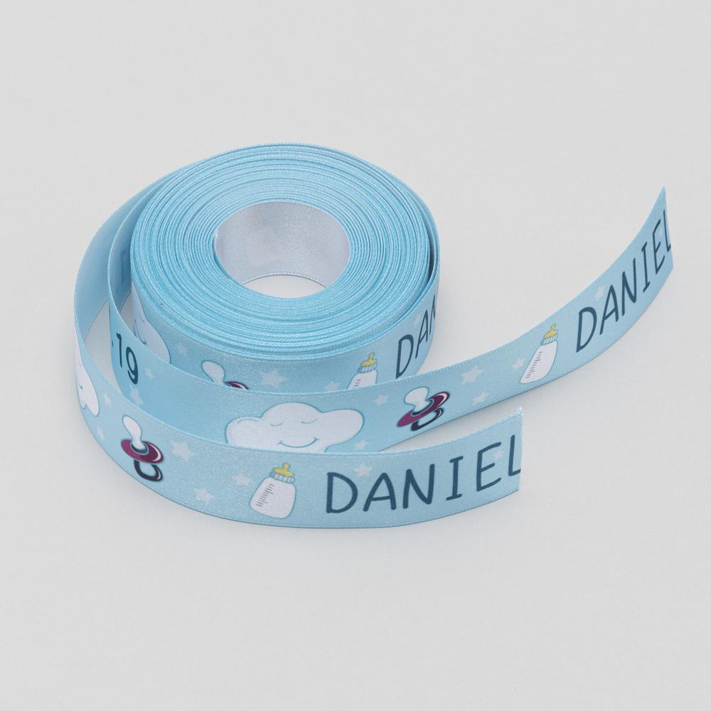 personalised christening ribbon