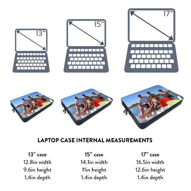 Laptop bag sizing