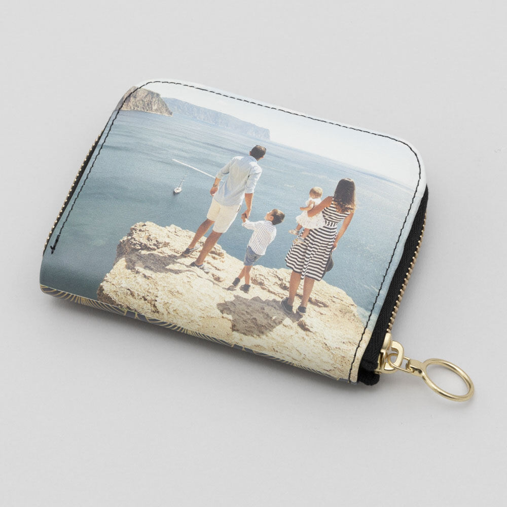 women's personalized photo wallet