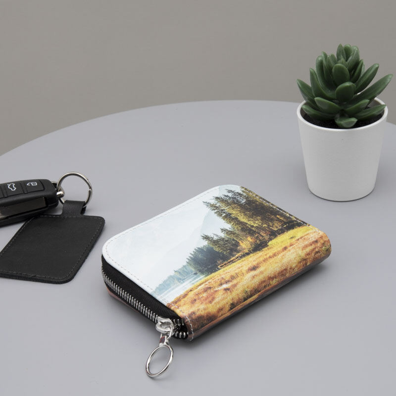 personalised photo purse