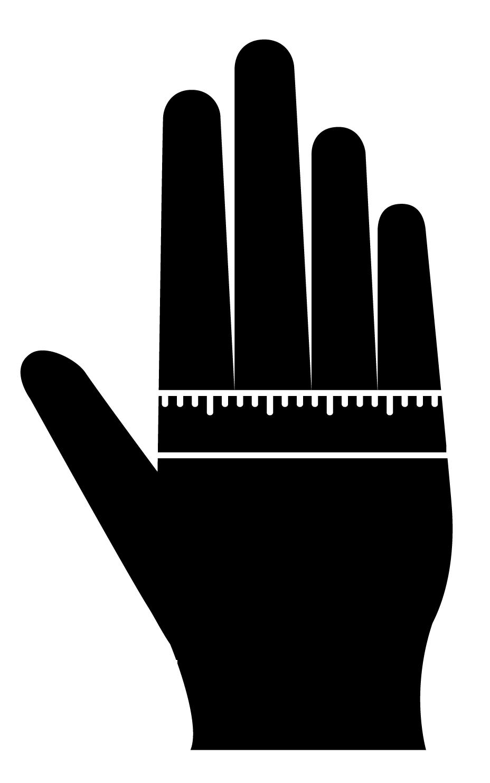 指関節のまわりを測定