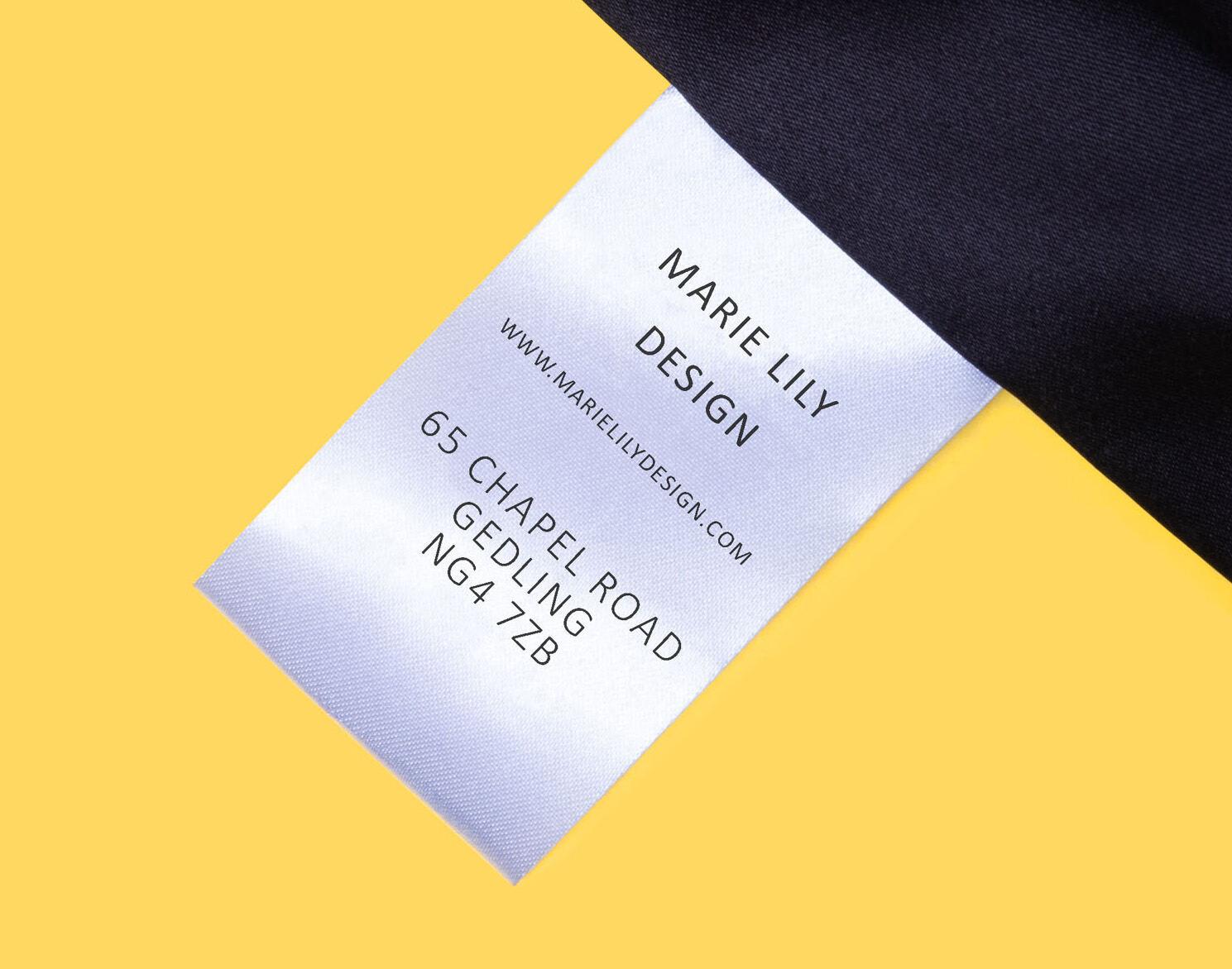 Etichetta di Lavaggio personalizzata
