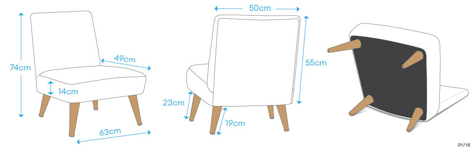 dimensions custom chair