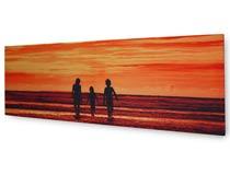 sunset on canvas print